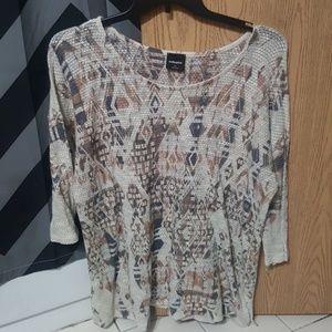 Flattering 3/4 sleeve shirt